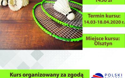 Kurs Instruktora Badmintona 14/03/2020 – 18/04/2020