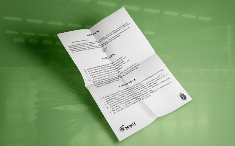 INFORMACJE (oświadczenie i regulamin COVID)